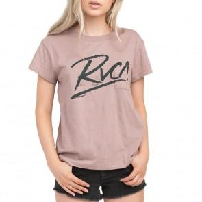 RVCA Women's Scribe T-Shirt - Mauve