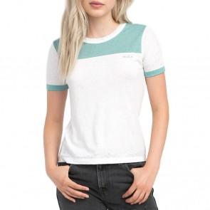 RVCA Women's All Sport Ringer T-Shirt - Vintage White