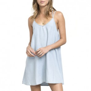 RVCA Women's Salene Dress - Light Indigo