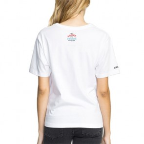RVCA Women's Espo Spoke T-Shirt - White