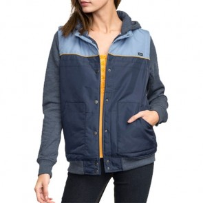 RVCA Women's Former Colorblocked Jacket - Federal Blue