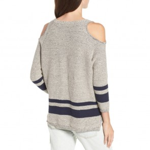 RVCA Women's Marked Cold Shoulder Sweater - Heather Grey