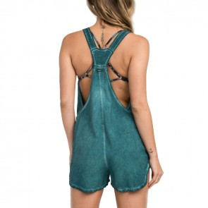 RVCA Women's Itemized Romper - Mallard Green