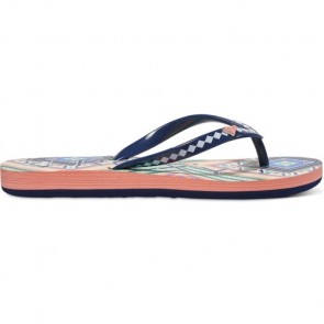 Roxy Youth Pebbles Sandals - Orange/Black