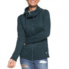 Roxy Women's Trail Side Zip Hoodie - Reflect Pond Heather