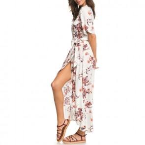 Roxy Women's Keep The Seas Wrap Maxi Dress - Tapioca Serene Crane