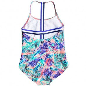 Roxy Youth Girls Retro Summer One-Piece Swimsuit - Bali Palm