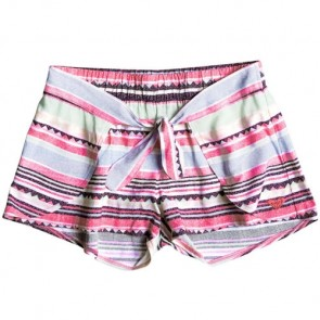 Roxy Youth Girls Little Indy Beach Shorts - Beach Glass Sombrero Stripe