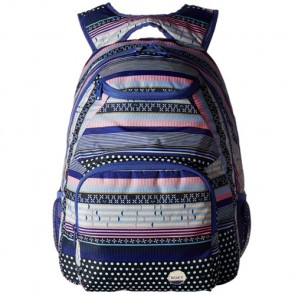 Roxy Women's Shadow Swell Backpack - Dress Blues Small Wintery Geo