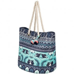 Roxy Women's Sun Seeker Tote Bag - Dress Blue Ax Hippie