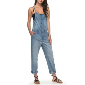 Roxy Women's Cozy Denim Overalls - Medium Blue