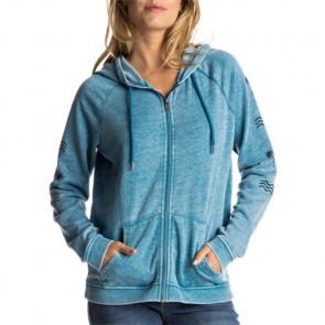 Roxy Women's Break Drop C Zip-Up Hoodie - Mosaic Blue