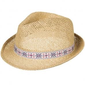 Roxy Women's Bring Roses Fedora Straw Hat - Natural