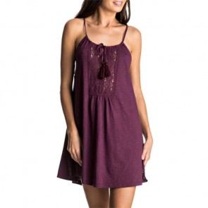 Roxy Women's Black Water Dress - Grape Wine