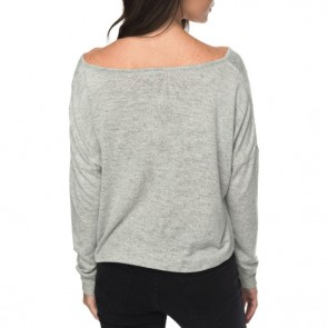 Roxy Women's Surfing Spot Lounge Long Sleeve Top - Olive Heather