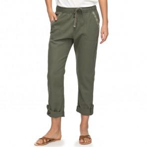 Roxy Women's Symphony Lover Linen Pants - Dusty Olive