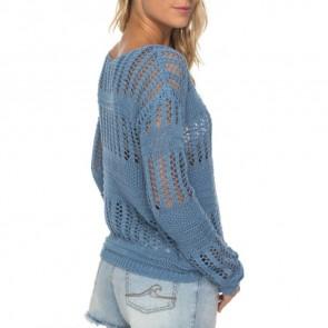 Roxy Women's Blush Seaview Sweater - Blue Shadow