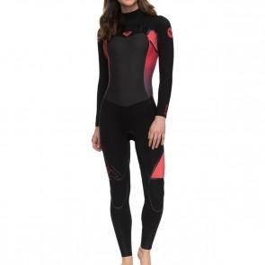 Roxy Women's Syncro Plus 4/3 Chest Zip Wetsuit - Paradise Pink