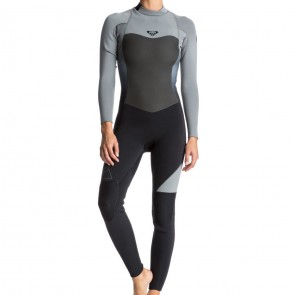 Roxy Women's Syncro 5/4/3 Back Zip Wetsuit - Black