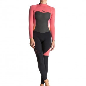 Roxy Women's Syncro 3/2 Back Zip Wetsuit - Paradise Pink