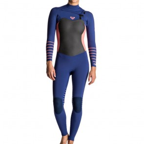 Roxy Women's Syncro Plus 3/2 Chest Zip Wetsuit