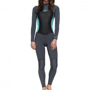 Roxy Women's Syncro 4/3 Back Zip Wetsuit - Ash/Pistachio