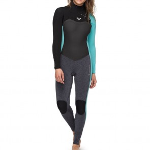 Roxy Women's Performance 3/2 Chest Zip Wetsuit - Ash/Pistachio