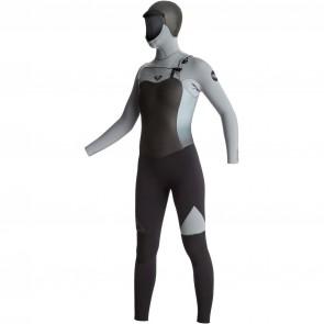 Roxy Women's Syncro 5/4/3 Hooded Wetsuit - Black