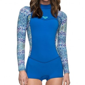 Roxy Women's Syncro 2mm Long Sleeve Spring Wetsuit - Sea Blue II