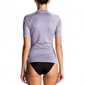 Roxy Women's Whole Hearted Short Sleeve Rash Guard - Dusk