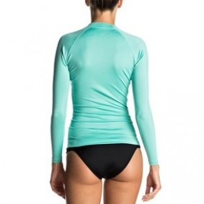 Roxy Women's Whole Hearted Long Sleeve Rash Guard - Pool Blue