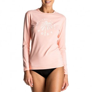 Roxy Women's Palms Away Long Sleeve Rash Guard - Peach Pearl