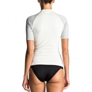Roxy Women's Sea Bound Short Sleeve Rash Guard - Marshmellow