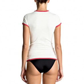 Roxy Women's Sunset Short Sleeve Rash Guard - Marshmellow