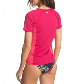 Roxy Women's On My Board Short Sleeve Rash Guard - Vivacious