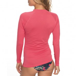 Roxy Women's Whole Hearted Long Sleeve Rash Guard - Rouge Red
