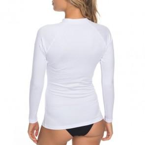 Roxy Women's Whole Hearted Long Sleeve Rash Guard - White