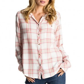 Roxy Women's Capital Dream Long Sleeve Shirt - Marshmellow Blanca