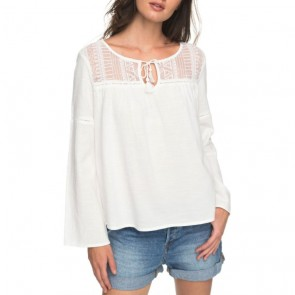 Roxy Women's Sweet Sunshine Long Sleeve Top - Marshmallow