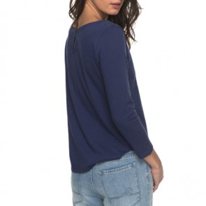 Roxy Women's Soul Club Long Sleeve Top - Deep Cobalt