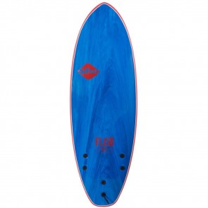 Softech Flash Geiselman 5'7 Soft Surfboard - Blue Marble - Top