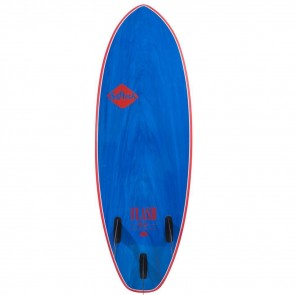 Softech Flash Geiselman 5'7 Soft Surfboard - Blue Marble