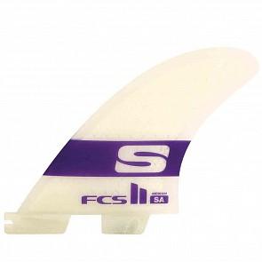 FCS II Fins SA PC Tri-Quad - Purple/Clear