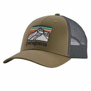 Patagonia Lines Logo Ridge LoPro Trucker Hat - Sage Khaki