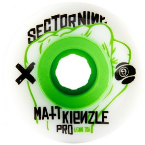 Sector 9 65mm Matt Kienzle Wheels - White