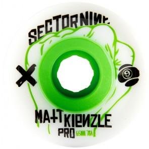 Sector 9 65mm Matt Kienzle Wheels - White