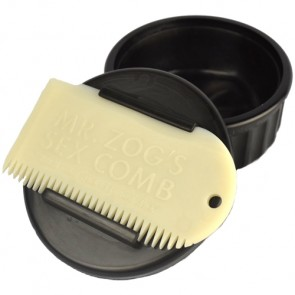 Sex Wax Container and Comb - Black/White
