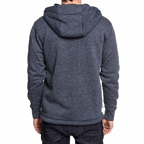 Quicksilver Kurow Sherpa Zip Hoody - Blue Nights Heather