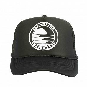 Cleanline Silhouette Circle Mesh Hat - Black/White