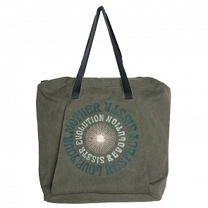 Sisstrevolution Women's Journey Along Tote Bag - Dusty Green